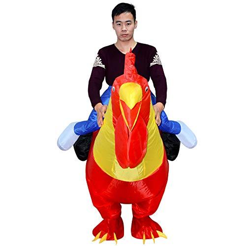 Zhanghaidong Erwachsenes Aufblasbares Kostüm-Hahn-Huhn-Großer Hahn Sprengen Lustiges Tier Cosplay Klage-Halloween Aufblasbarer Anzug-Karikatur-Tier-Großer Hahn-Aufblasbarer Anzug Lustig