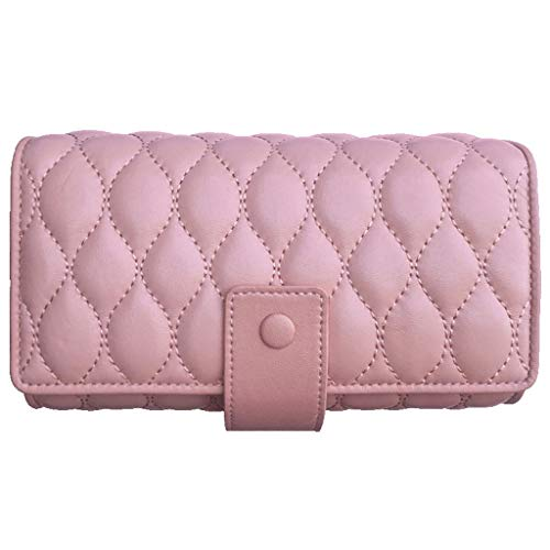 VAIY Kosmetiktasche kleine multifunktionale tragbare Aufbewahrungstasche mit großer Kapazität (Farbe : Pink)