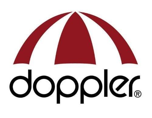Derby Doppler Hochwertiger Ampelschirm Ravenna 300″ in grau, neigbar, 360 Grad drehbar, UV-Schutz 50 Plus, inklusive Plattenständer