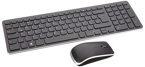 Dell 580-18380 Wireless Tastatur und Maus German Kit schwarz (Dell Computer-maus Wireless)