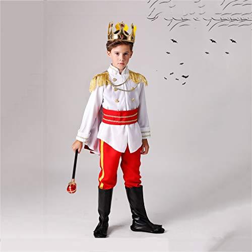 LKKWSJFZ Halloween Kinderkostüme Jungen und Mädchen Vampir Prinz Earl Kindergarten Maskerade Kostüme (größe : 140cm)