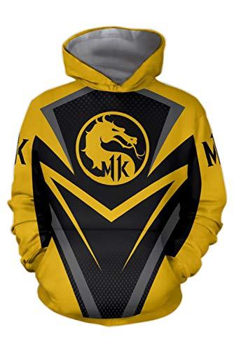 MingoTor Herren Damen für Mortal Kombat X 3D Hoodie Kapuzenjacke - Mortal Kombat Kostüm Damen