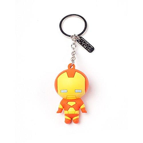 Bioworld Marvel Comics Iron Man Charakter 3D Anhänger Gummi Schlüsselanhänger, One Size, Multi-Color (Ke020303Mar) Schlüsselanhänger, 16 cm, Multi