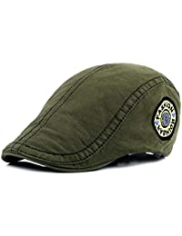 2bd9cf964bb FengFa Men Adjustable Beret Flat Caps IVY Irish Gatsby newsboy Cotton Hat  (6 Colors)