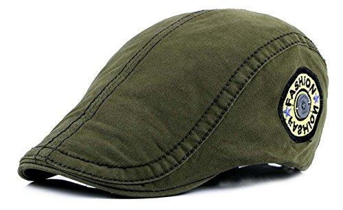 mützen Traditionelle Ivy Newsboy Flat Cap Einstellbar Baumwolle Hüte (Grün) ()