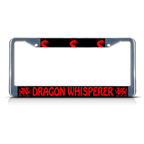 Fastasticdeals Dragon 201811p Chrom Metall Robuste Nummernschild Rahmen Tag Bordüre