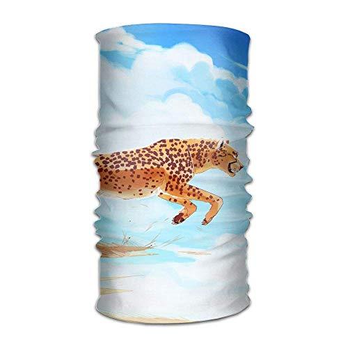 FAFANIQ Running Cheetah Unisex Breathable Headband Bandanas Headwear Balaclava Neck Gaiter Magic Scarf UV Protection for Daily Activities