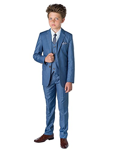 Paisley of London Jungen Anzug Gr. 14 Jahre, blau Chambray ()