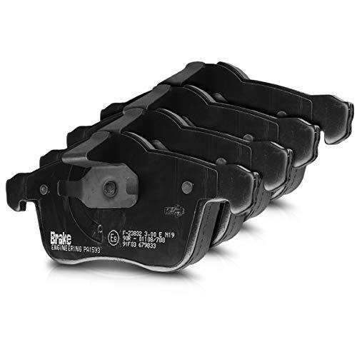 Brake ENGINEERING PA1593 Bremsbelagsatz - 4X Auto Bremsbeläge Bremsklötze für Bremsscheiben Vorderachse