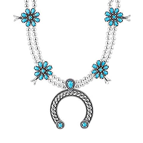 Argent sterling Sleeping Beauty Turquoise Naja Collier plastron, 45,7cm