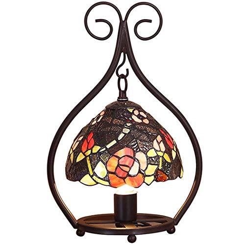 GAOLIQIN Lámpara de sobremesa Estilo Tiffany Lámpara de Noche en el Dormitorio...