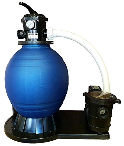 well2wellness® Pool Sandfilteranlage Poolfilter D450 mit Pumpenleistung von max. 14.400 l/h