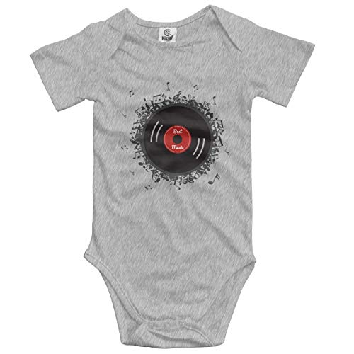 Klotr Unisex Baby Body Kurzarm Record Disc Newborn Bodysuits Baumwolle Strampler Outfit Set -