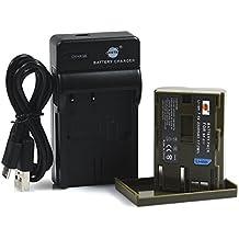 DSTE BP-511 Li-ion Batería Traje y cargador micro USB para Canon BP-511 BP-511A