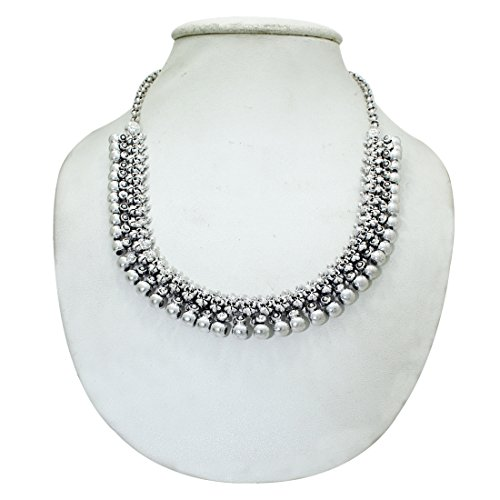 Frabjous Designer Silver Oxidized Designer Necklace Jewelry
