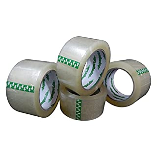 6x Aquag Art of Tape Parcel Tape High Strength Adhesive Clear Parcel Tape 50 mm X 66 m 60my