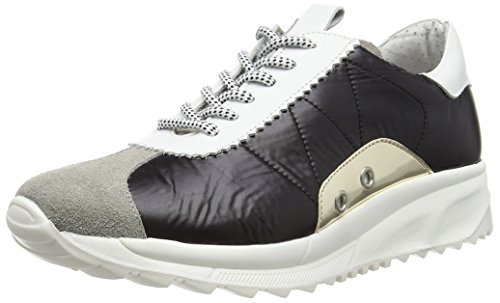 Bronx Brodax Damen Sneakers Mehrfarbig (1565 L. grey/black/white)