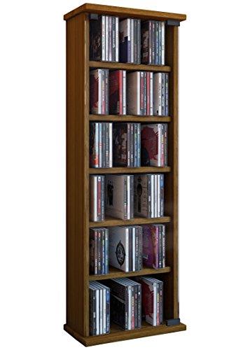 VCM 25202 Vetro Tour pour 150 CD/DVD Imitation Structure Bois Chêne Rustique