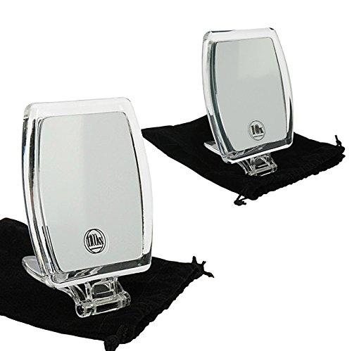 Kosmetik-Spiegel, Reisespiegel mit 10-fach Vergrößerung, Handspiegel zum Stellen, Klein