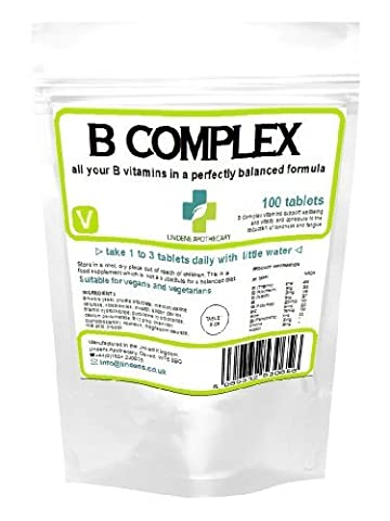 Vitamin B Complex (all nine B vitamins); 100 tablets