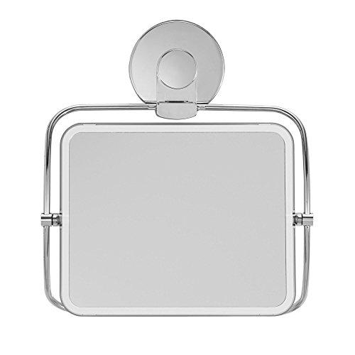 EverLoc 99002chrom Xpressions Saugnapf Dusche Korb Duschspiegel silber