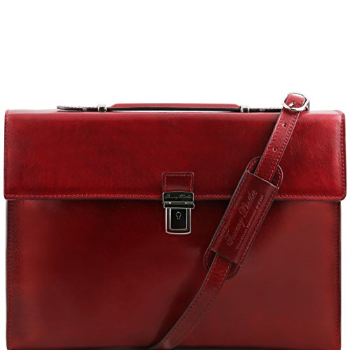 Tuscany Leather Como - Serviette Porte-documents en cuir Rouge Porte-document en cuir Rouge