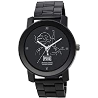 MXIX Stainless Steel Belt Analogue Black Dial Men's PUBG Watch - Specially for PUBG Lover - Mxm004