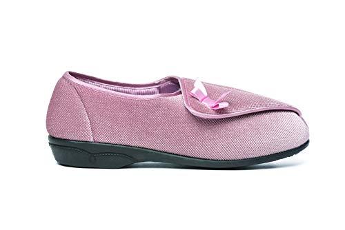 Dr Keller - Zapatillas ortopédicas para Mujer, con Lazo, Tallas 36 a 40, Color Rosa, Talla 37 1/3 EU
