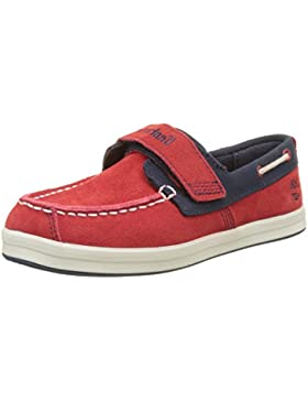 Timberland Unisex-Kinder Dover Bay H&l Boathaute Red with Sapphire Oxford Schnürhalbschuhe