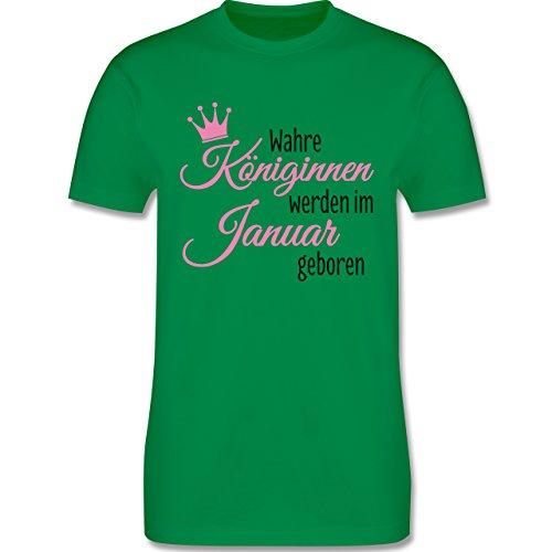 Geburtstag - Wahre Königinnen werden im Januar geboren - Herren Premium T-Shirt Grün