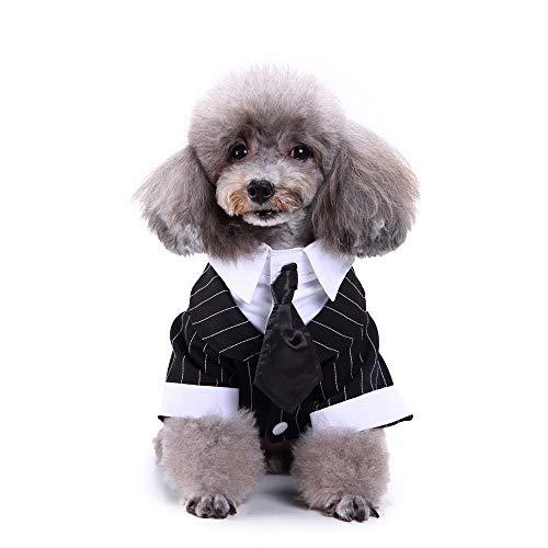 Haustier-Kleidung, für Hochzeit, Krawatte, Urlaub, Party, formelle Smoking Kleidung für Welpen, kleine - Welpen Bauch Baby Kostüm