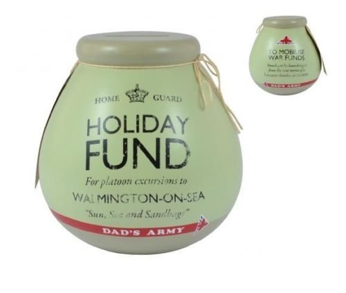 Pot Of Dreams Ceramic Money Box Pot DAD'S ARMY HOLIDAY FUND 55143 Break To Open by Pot Of Dreams
