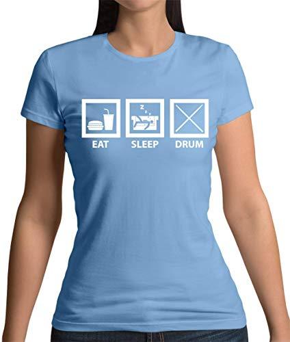 Eat Sleep Drum (Schlagzeug) - Damen T-Shirt - Himmelblau - XL - Eat Sleep Drum