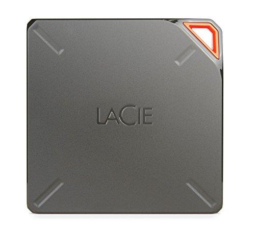 LaCIE Fuel 2 TB, externe tragbare Festplatte mit WLAN und Akku, für Mac, iPAd, iPhone, USB 3.0. - STFL2000200