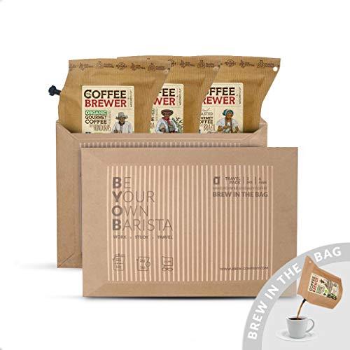 Premium-Kaffee für unterwegs   Coffeebrewer 3er-Pack   Gemahlener, Single Estate, handgeröstet Kaffees aus aller Welt für Deinen Kaffeebecher to go   Tolles Kaffee-geschenk für die Kaffeeliebhaber