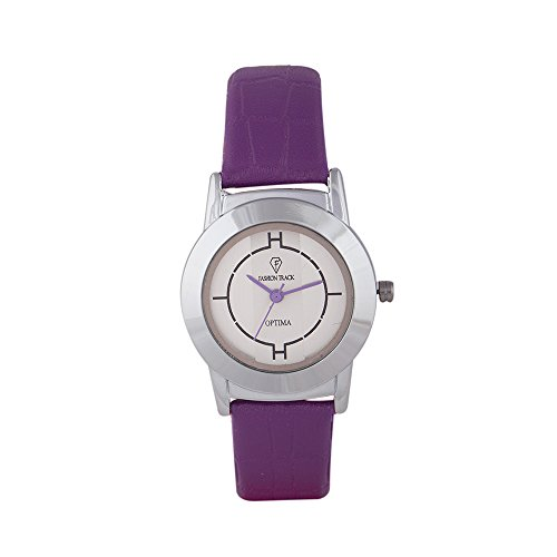 Optima FT-ANL-2467-PR Fashion Track Analog Watch For Girls
