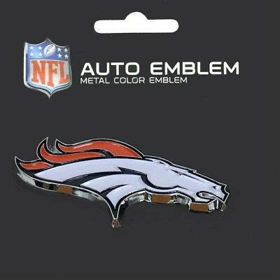 Denver WinCraft NFL Broncos Acryl Metallic 3D Auto Emblem Aufkleber in 8 x 8 cm