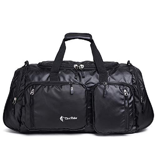 Reisetasche Große Kapazität Gepäck Wasserdicht Sport Kanister Übernachtung Am Wochenende Unisex Nylon Koffer 53 * 27 * 32 cm,Black