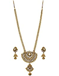 JFL - Traditional Ethnic One Gram Gold Plated Kundan Diamond Designer Necklace Set With Earring For Women And...