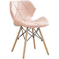MEI XU Silla de Ocio, Silla de Comedor para el hogar, Silla de Escritorio Minimalista y Moderna - Silla de Ocio Creative Back - Opcional (Color : Pink)