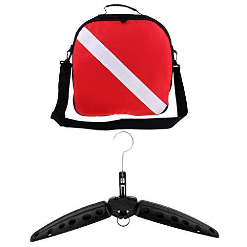 perfk Tauchbügel Bügel Aufhänger Kleiderbügel für Neoprenanzug Tauchanzug mit Werkzeugtasche Transporttasche Gear Bag