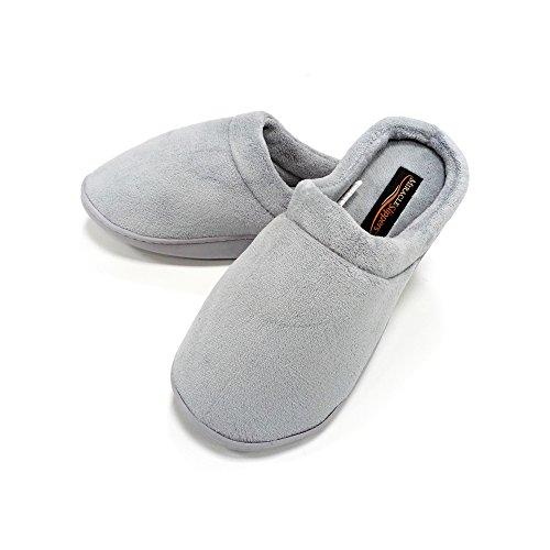 Miracle Slipper Gel Producto Oficial, Zapatillas de estar Por casa Unisex con propiedades antifatiga, Antideslizantes y con Plantillas amortiguadoras de Gel. Las únicas Originales (L, Gris)