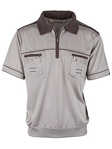 Polohemd Poloshirt für Herren von SOUNON, verschiedene Farben - Größe M bis 5XL Beige