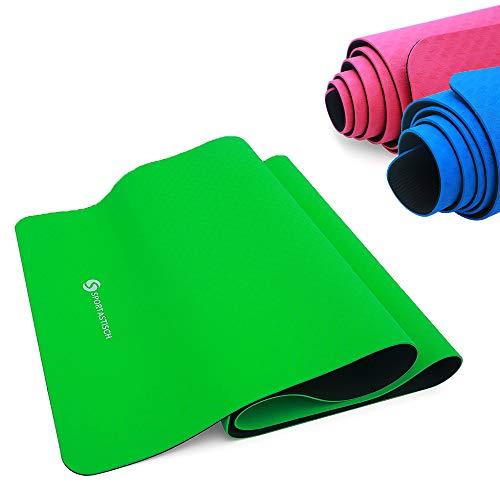 Sportastisch Top¹ Y´Gymnastikmatte Yoga Star | GRÜN | Premium Yogamatte Sportmatte in rutschfestem 2-Lagen-Design | GRATIS E-Book und bis zu 3 Jahre Garantie²