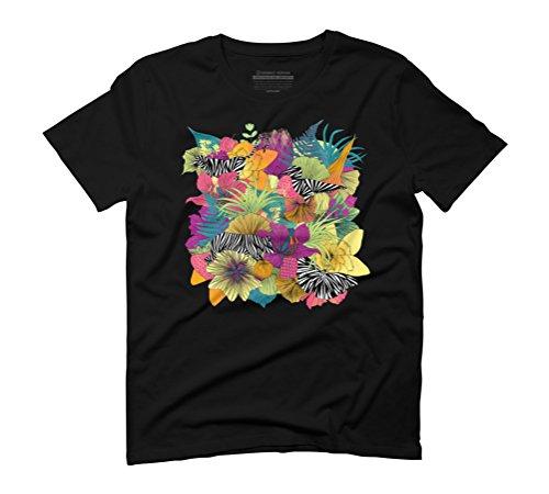 wondergarden Men's Graphic T-Shirt - Design By Humans Black