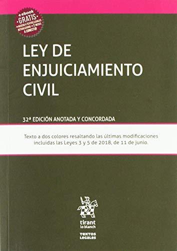 Ley de Enjuiciamiento Civil 32ª Edición 2018 (Textos Legales)