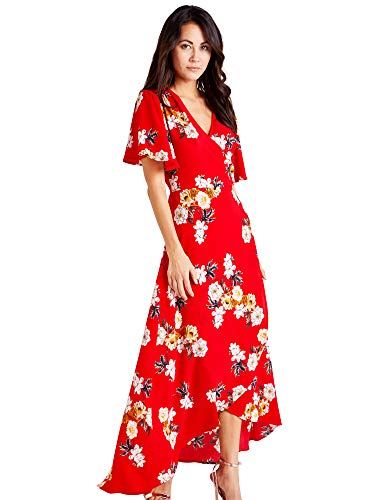 Red Maxi Wrap Dress ()