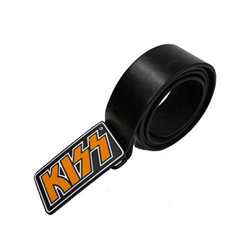 Kiss - Rock Band Herren Gürtel Schwarz (Kiss Logo) (S/M - 71-81 CM) (Kiss Rock Band Kostüme)