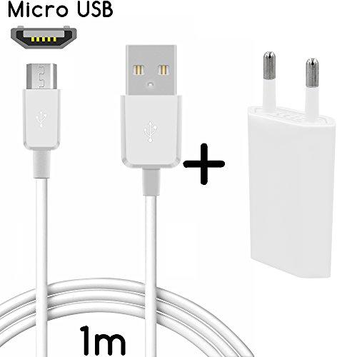 thesmartguard Lot de 2en 1avec Sony Xperia M4Aqua Bloc d'alimentation chargeur câble de charge et Sony Xperia M4Aqua (1m/1m)/Câble de données/câble en blanc haute vitesse de chargement.