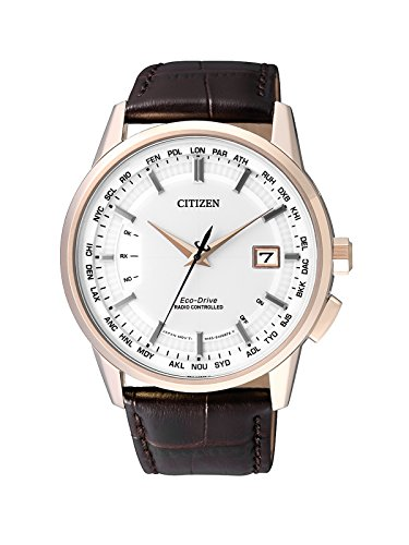 Citizen Herren-Armbanduhr Radio Controlled Analog Quarz Leder CB0153-21A